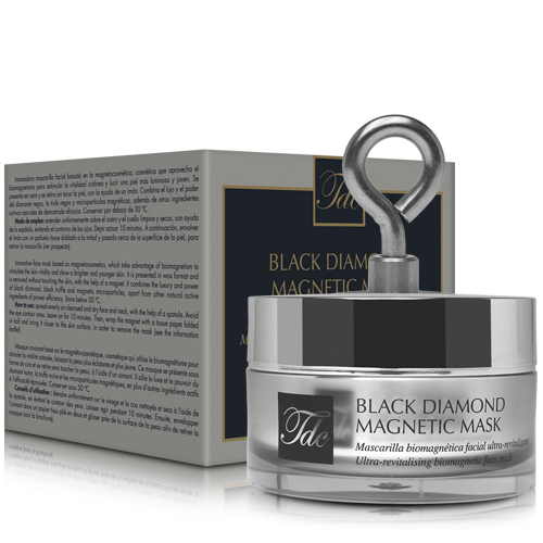Bodegón Black Diamond Magnetic Mask, mascarilla facial biomagnética
