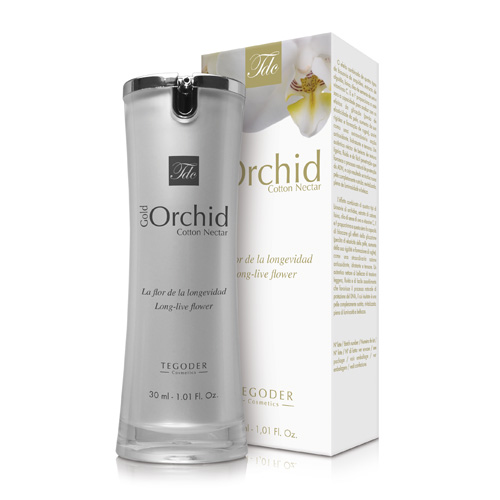 Bote Gold Orchid Cotton Nectar, suero facial intensivo