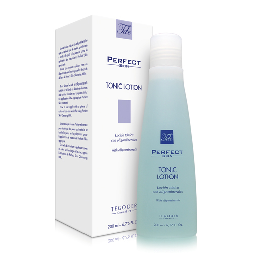 Envase de Perfect Skin Tonic Lotion, loción tónica