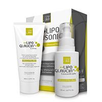 Bodegón Lipoglausonic, pack de tratamiento corporal completo