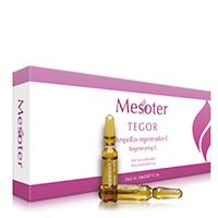 Envase Mesoter regenerador C para uso facial y corporal