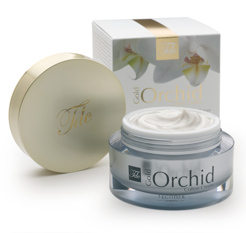 Envase Gold Orchid Cotton Face Cream, crema facial de tratamiento intensivo