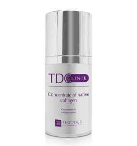 Envase TDClinik, concentrado facial de colágeno
