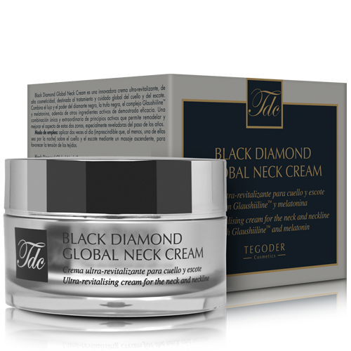 Envase Black Diamond Global Neck Cream, crema ultra-revitalizante para el cuello