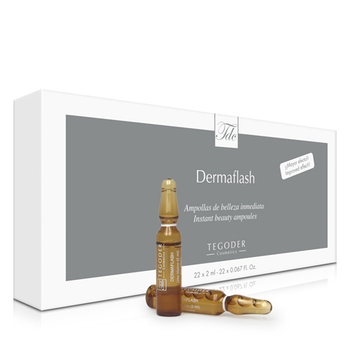 Envase Dermaflash de ampollas de belleza inmediata