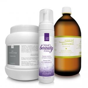 Bodegón productos terápia del masaje profesionales