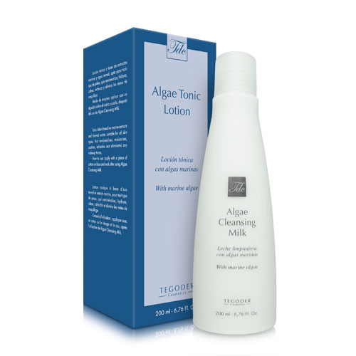 Envase Algae Cleansing Milk y Algae Tonic Lotion