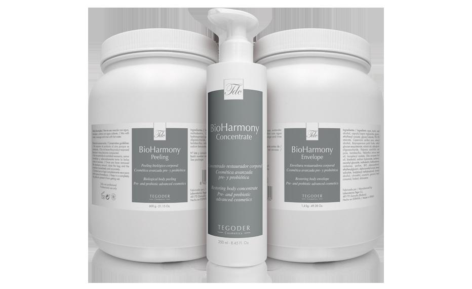 Bodegón productos Bioharmony profesionales