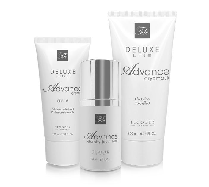 Bodegón productos Deluxe Advance Line profesionales