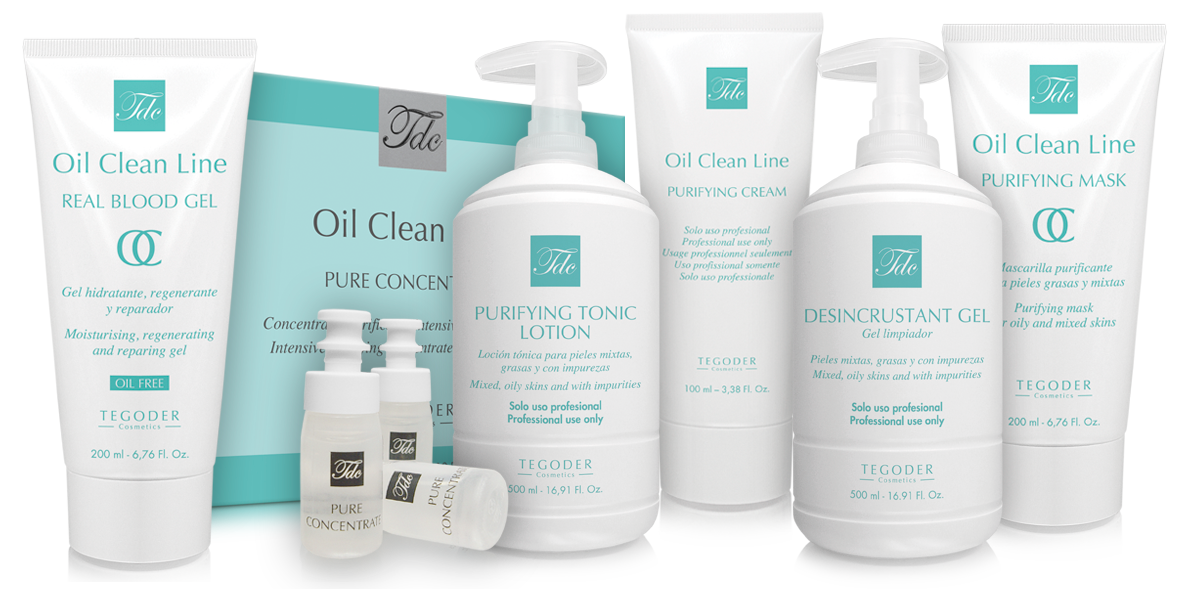 Bodegón productos profesionales Oil Clean