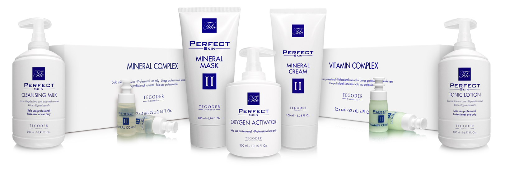 Bodegón productos profesionales Perfect Skin