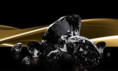 Foto diamantes negros
