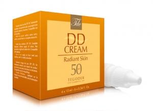 Envase DD Cream Radiant Skin SPF 50, crema solar de acción global