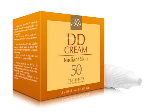 Envase DD Cream Radiant Skin SPF 50, crema solar de acción global