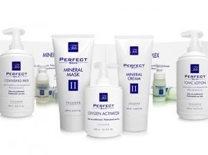 Bodegón de productos de la línea Perfect Skin 2