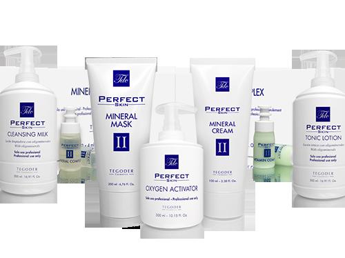 Bodegón de productos de la línea Perfect Skin 2 profesional