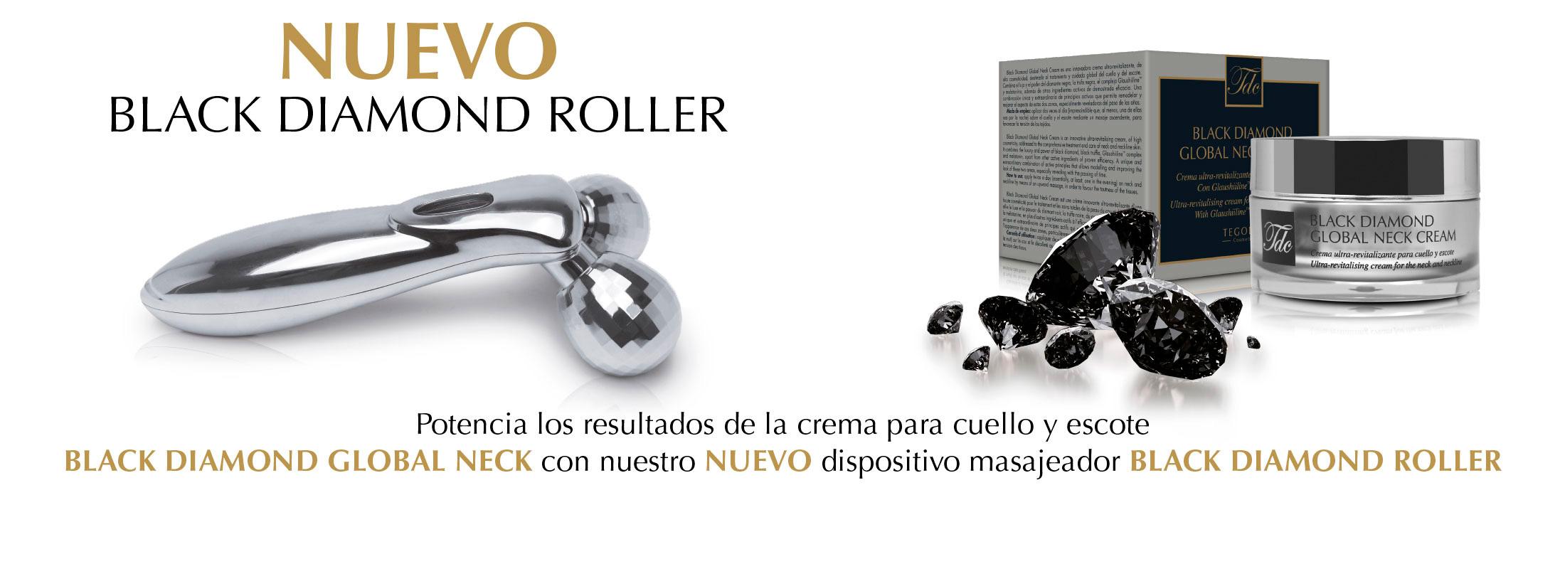 Black Diamond Global Neck Cream con black diamond roller