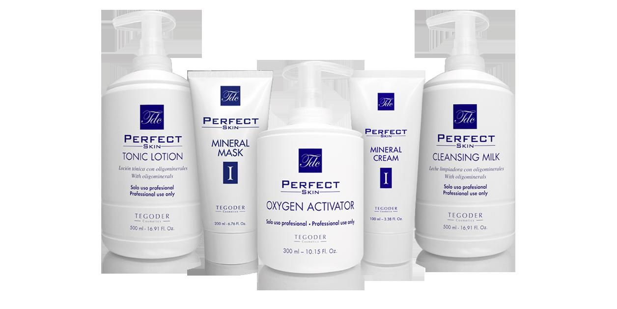 Bodegón de productos Perfect Skin 1 de Tegoder Cosmetics