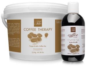 Bodegon de productos Spa Coffee line de tegoder cosmetics