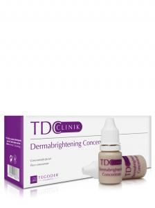 Envase TDClinik Dermabrightening Concentrate, concentrado facial de tratamiento